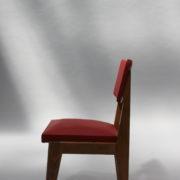 1761-4 chaises 50s skai rouge petits carres (5)