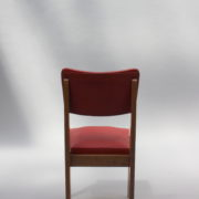 1761-4 chaises 50s skai rouge petits carres (7)