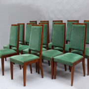 1602-12 chaises hautes velours vert00003