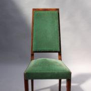 1602-12 chaises hautes velours vert00009