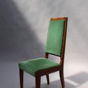 1602-12 chaises hautes velours vert00010