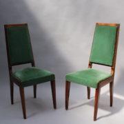 1602-12 chaises hautes velours vert00014