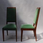 1602-12 chaises hautes velours vert00015