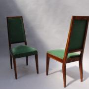 1602-12 chaises hautes velours vert00016