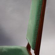 1602-12 chaises hautes velours vert00020
