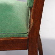 1602-12 chaises hautes velours vert00021