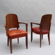1747-6Chaises+2fauteuils SM Maxime Old cuir rouge 00021