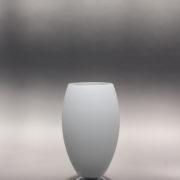 1787-Lampe a poser Perzel chrome vasque verre blanc epais 00001