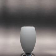 1787-Lampe a poser Perzel chrome vasque verre blanc epais 00002