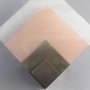 1693-Applique Perzel 2 carres de verre rose blanc potence nickel00006