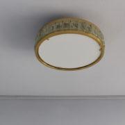 1802-Plafonnier tambour Perzel collier de la reine fin 35 redore
