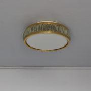 1802-Plafonnier tambour Perzel collier de la reine fin 35 redore (2)