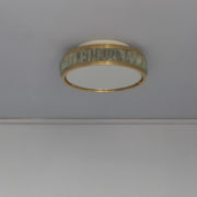 1802-Plafonnier tambour Perzel collier de la reine fin 35 redore (3)