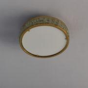 1802-Plafonnier tambour Perzel collier de la reine fin 35 redore (5)