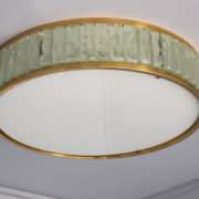 1797-Paire de grands colliers de la reine tambours Perzel poli vernis00010