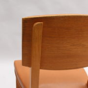 1628-6Chaises palissandre cuir marron placage 17