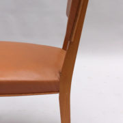 17- 1628- 6Chaises palissandre cuir marron placage 2 (2)