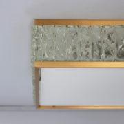 1809-Plafonnier Perzel collier de la reine carre dore grand 17