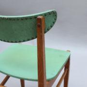 1824-4 chaises 50's vert d'eau (12)