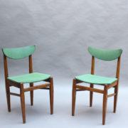 23- 1824 -4 chaises 50's vert d'eau (2)