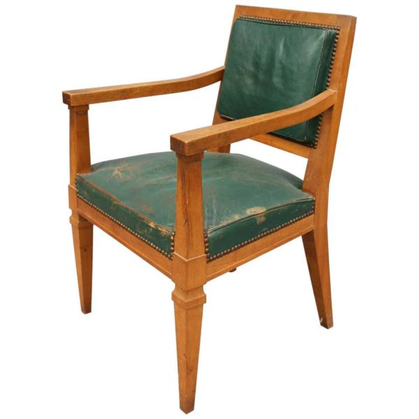 A Fine French Art Deco Armchairs Attributed to Arbus