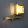 4 Fine French 1960s Brass and Textured Glass Sconces