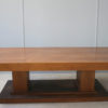 Large French Art Deco Walnut Pedestal Dining Table by Jean-Charles Moreux
