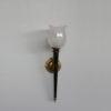 Fine French 1950s Glass and Metal Wall Light