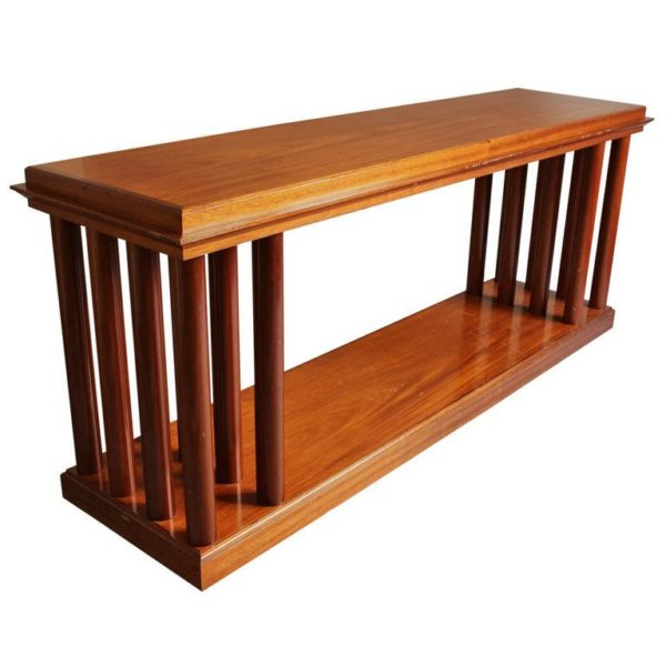 A Fine French Art Deco Mahogany Two Tier Console or Sofa Table