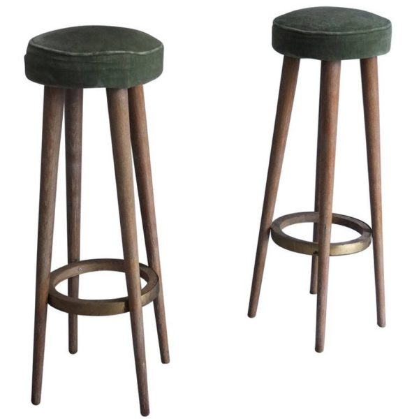 A Pair of French Art Deco Bar Stools