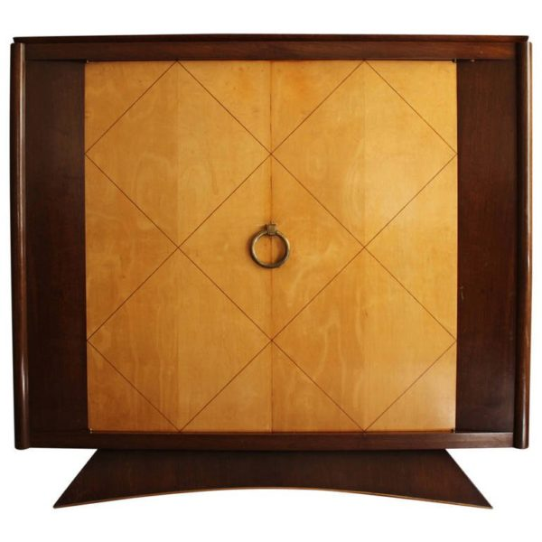French Art Deco Rosewood and Sycamore Armoire