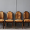 Set of 6 Fine French Art Deco Walnut Dining / Side Chairs