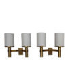 2 Fine French Art Deco Bronze and Glass Sconces by Jean Perzel