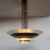 A Large French Art Deco Brass and Glass Chandeliers