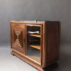 A Fine French Art Deco Two Doors Walnut Buffet - Dry Bar in the Manner of Maxime Old