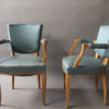 4 Fine French Art Deco Sycamore Armchairs