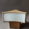 French 1950's Lacquered Metal and Lucite Triangular Shape table Lamp by Perzel