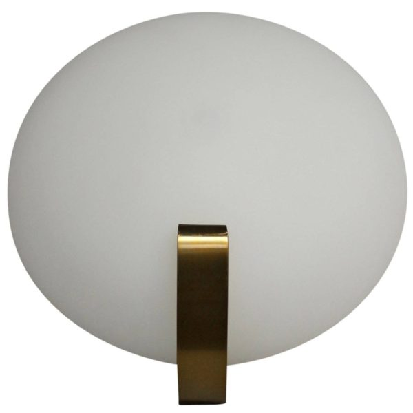 Fine French Art Deco Bronze and Glass Sconce by Jean Perzel