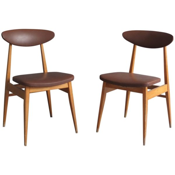 Set of 14 French 1950s Dining or Side Chairs
