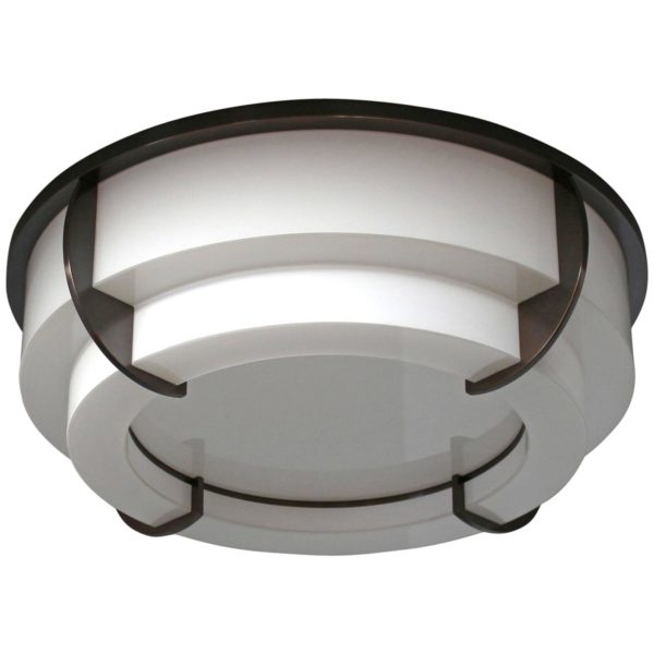 A Fine French Art Deco Round Two-Tier Flush Mount by Jean Perzel