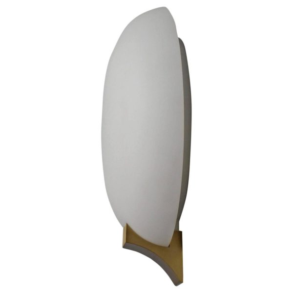 A Fine French Art Deco Glass and Bronze Sconce by Perzel