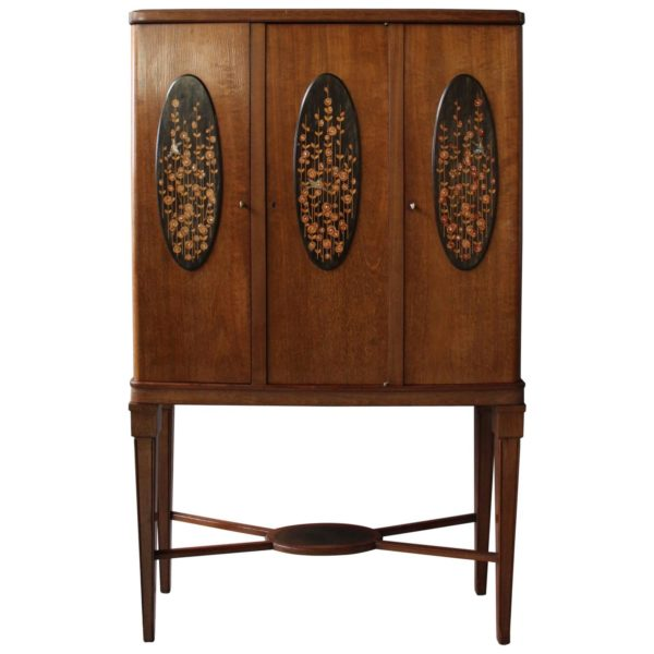 Fine French Art Deco Three-Door Cabinet by Maurice Dufrêne