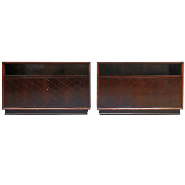 Fine Pair of French Art Deco Cabinets by Jean Pascaud
