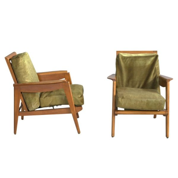 A Pair of 1950s French Armchairs