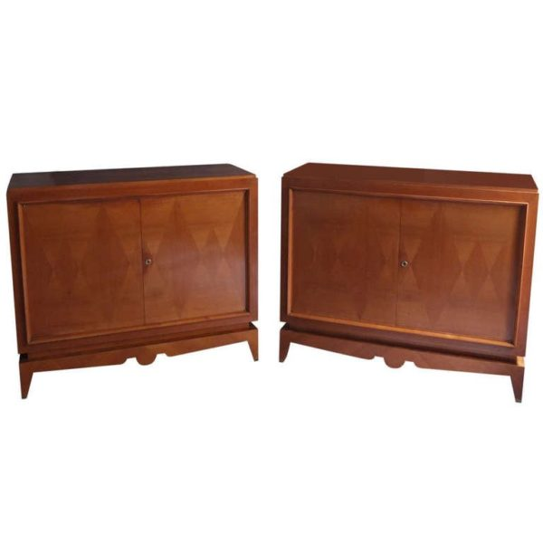 Pair of fine French Art Deco Cherry Wood Buffets