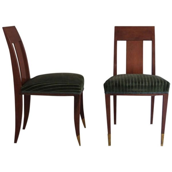 Pair of French Art Deco Side Chairs in the Manner of Alfred Porteneuve