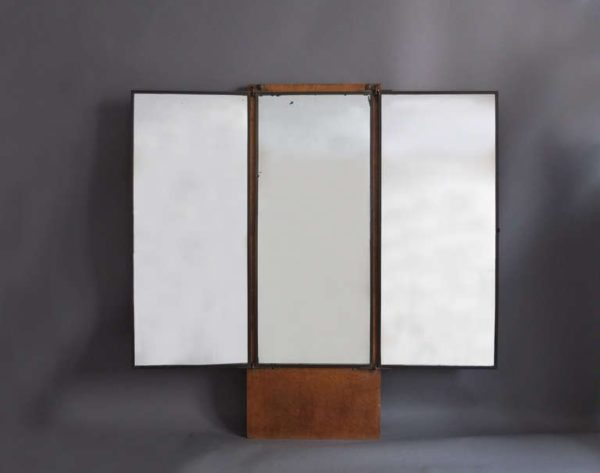French Art Deco Dressing Triptych Mirror by Brot
