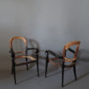 A Pair of Fine French Art Deco Ebonized Mahogany Arm Chairs by Maxime Old
