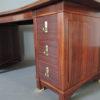 A Fine French Art Deco Palisander Pedestal Desk with Bronze Details