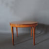 French 1950's Cherry Round Dining Table Divisible in 2 Demi Lune Tables